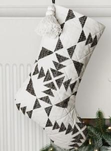 modern quilt stocking