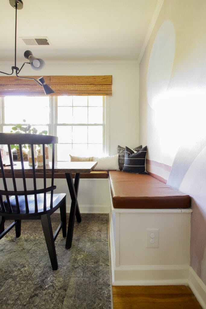 dining banquette bench custom cushion