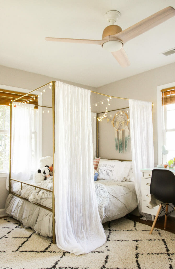 Teen Girl Bedroom- Modern Boho