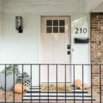 Late Fall Small Porch Decor