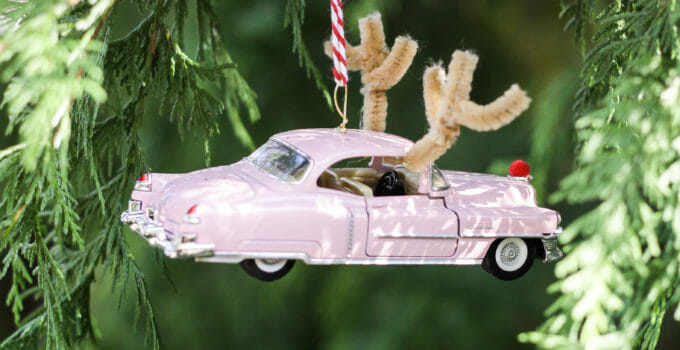 DIY Reindeer Vintage Car Christmas Ornament