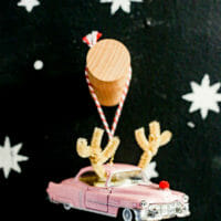 DIY Reindeer Vintage Car Christmas Ornament