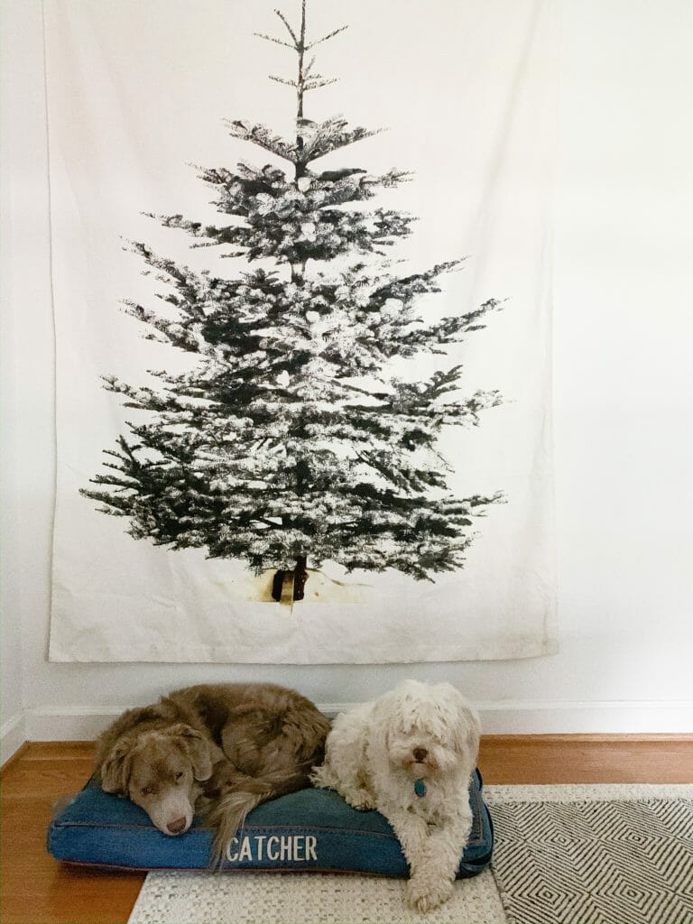 christmas tree tapestry