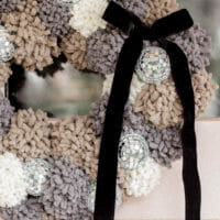 How to Make a Pom Pom Wreath with Disco Balls