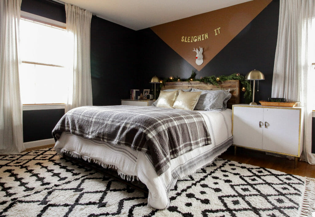 Modern Bohemian Neutral Christmas Bedroom