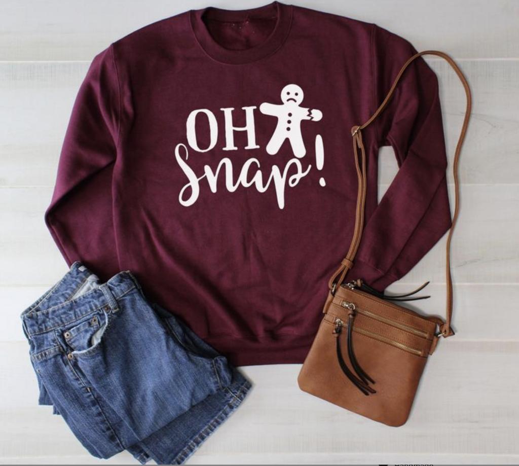 oh snap sweatshirt