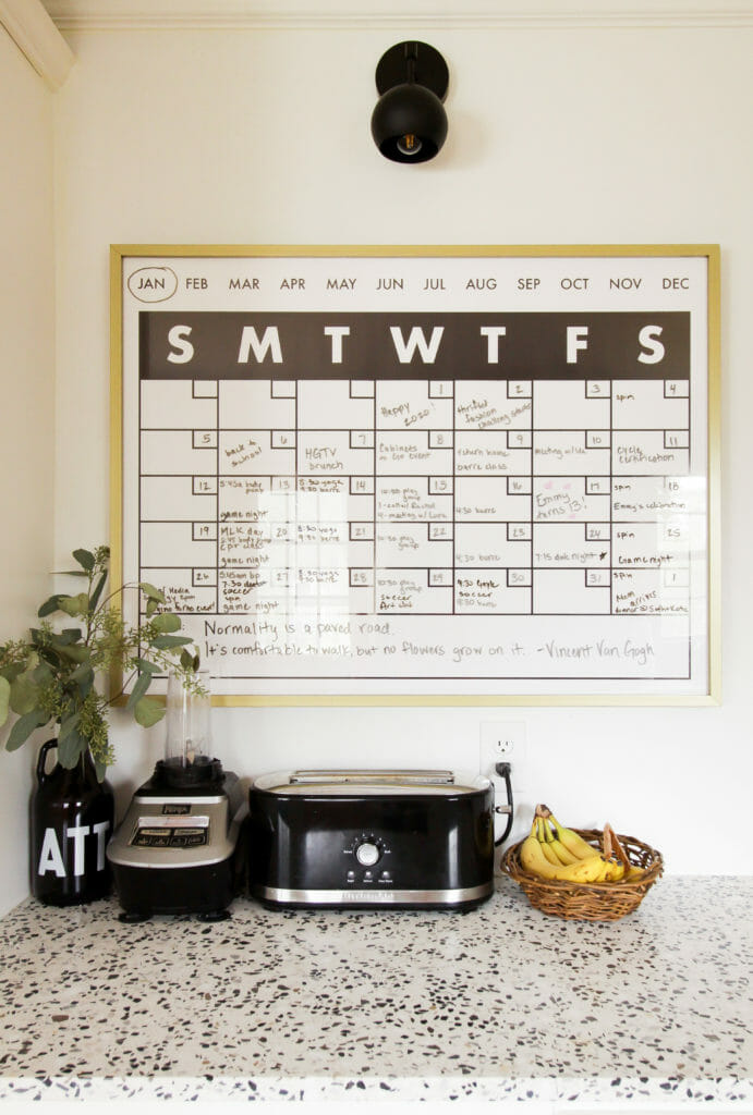 DIY Kitchen Wall Calendar