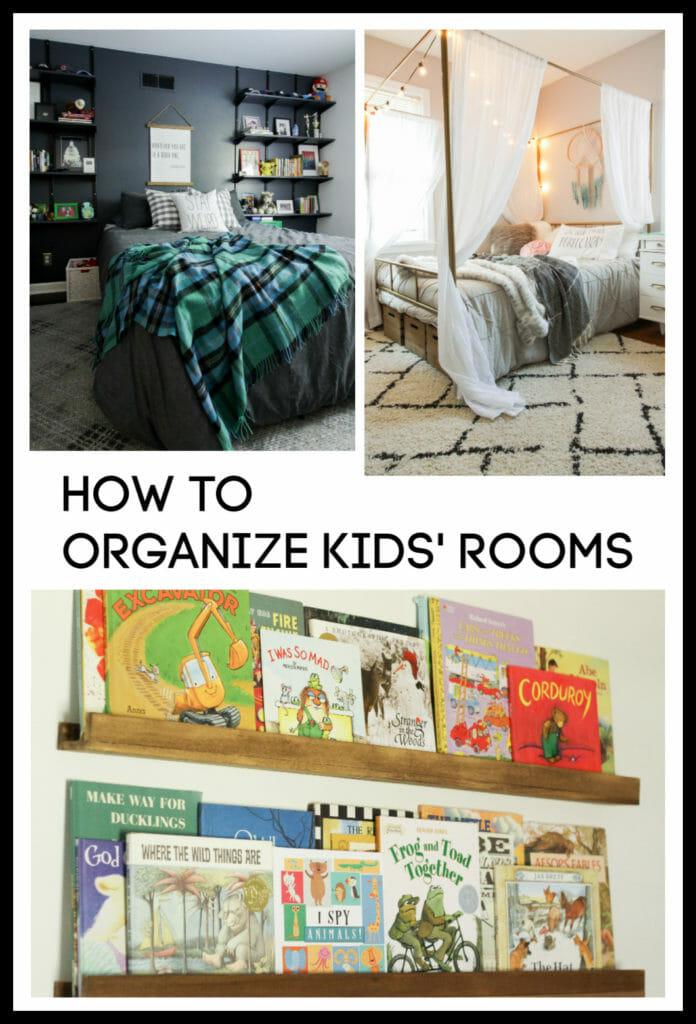 how to organize kids bedrooms