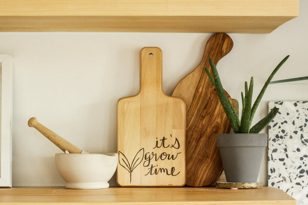 DIY WOod Burned Cutting Board