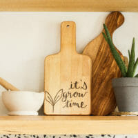 How to Make a Wood Burned Hand Lettered Cutting Board