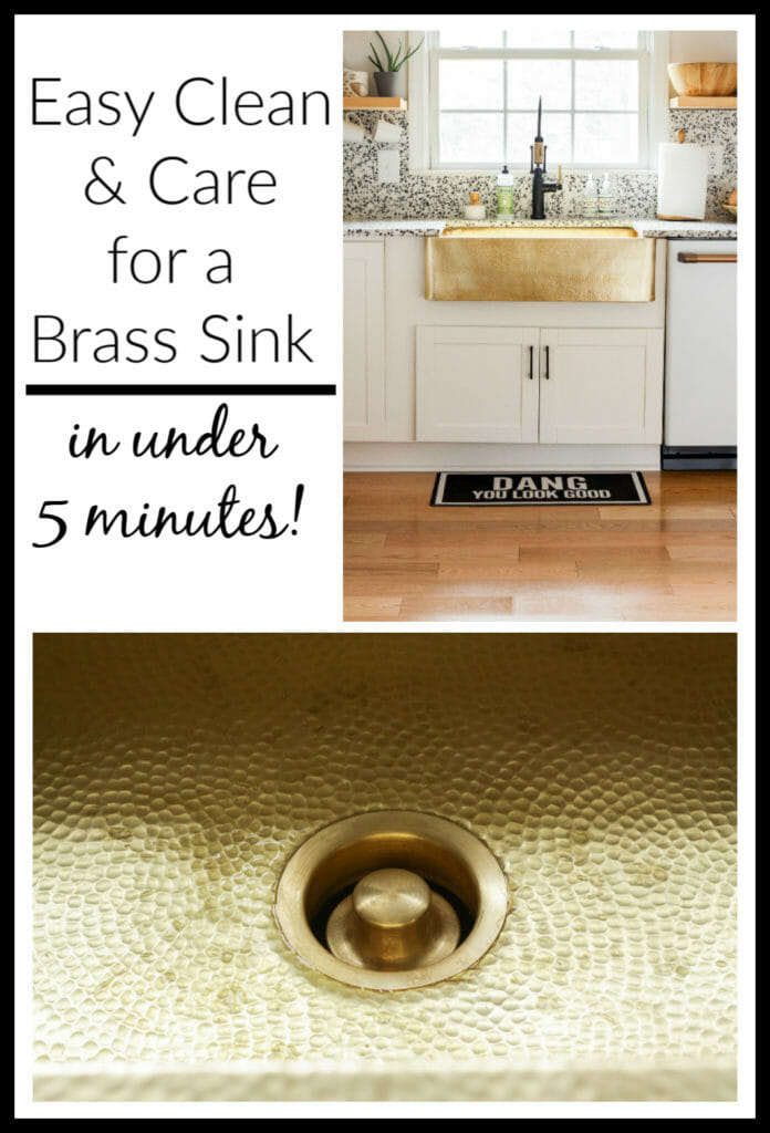 how to clean a brass sink