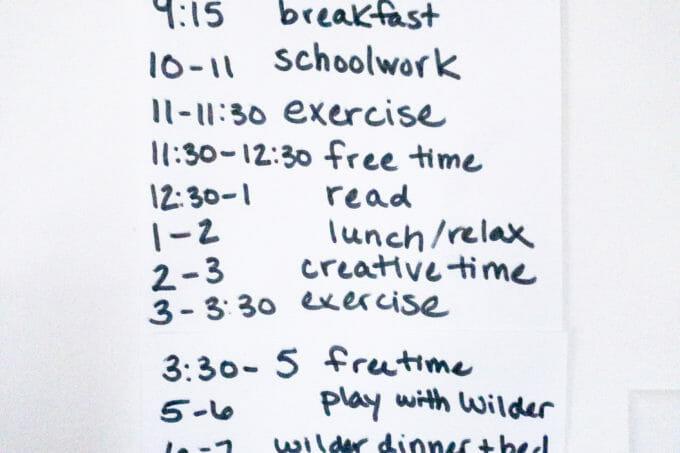 Home School Schedule