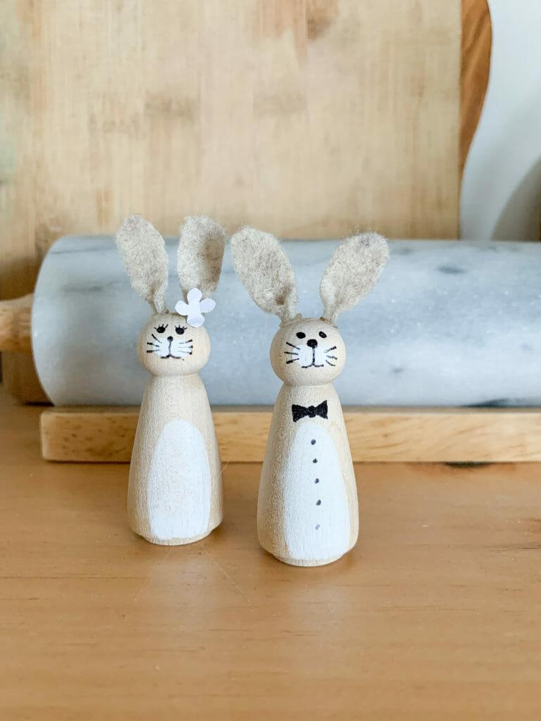 DIY Peg Doll Bunnies