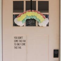 How to Make a Rainbow Pom Pom Wreath