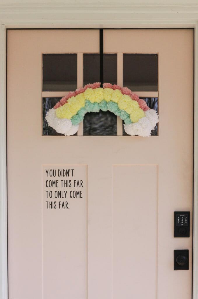 DIY rainbow wreath