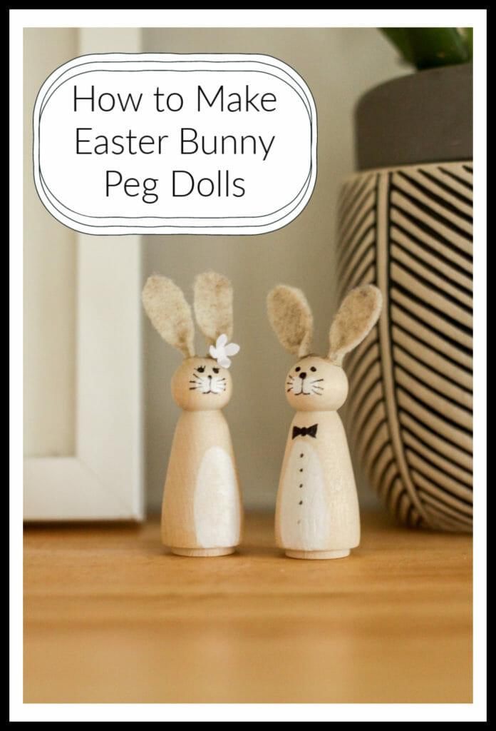 how to make bunny peg dolls