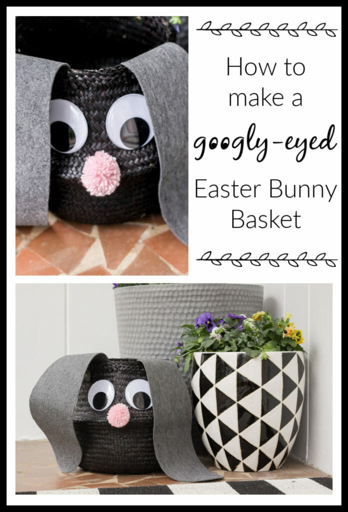 How to make a googly eyed easter bunny basket