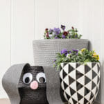 Easter Basket lop eared googly eyed bunny project