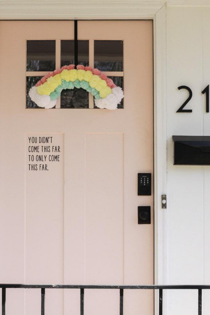 Door Vinyl to make mail man smile