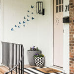 brusher paper butterfly swarm on porch