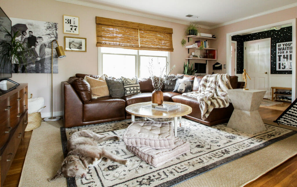 blush family room