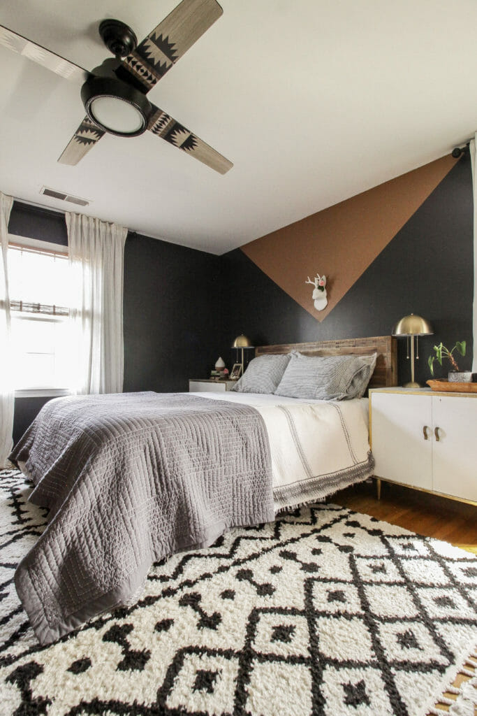 Color Blocking in Modern Boho Bedroom