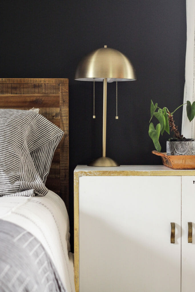 minimial nightstand styling