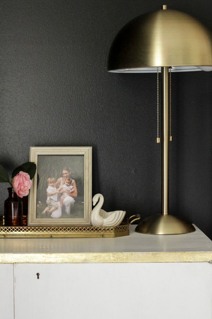 Spring nightstand decor, swan camellia, photo