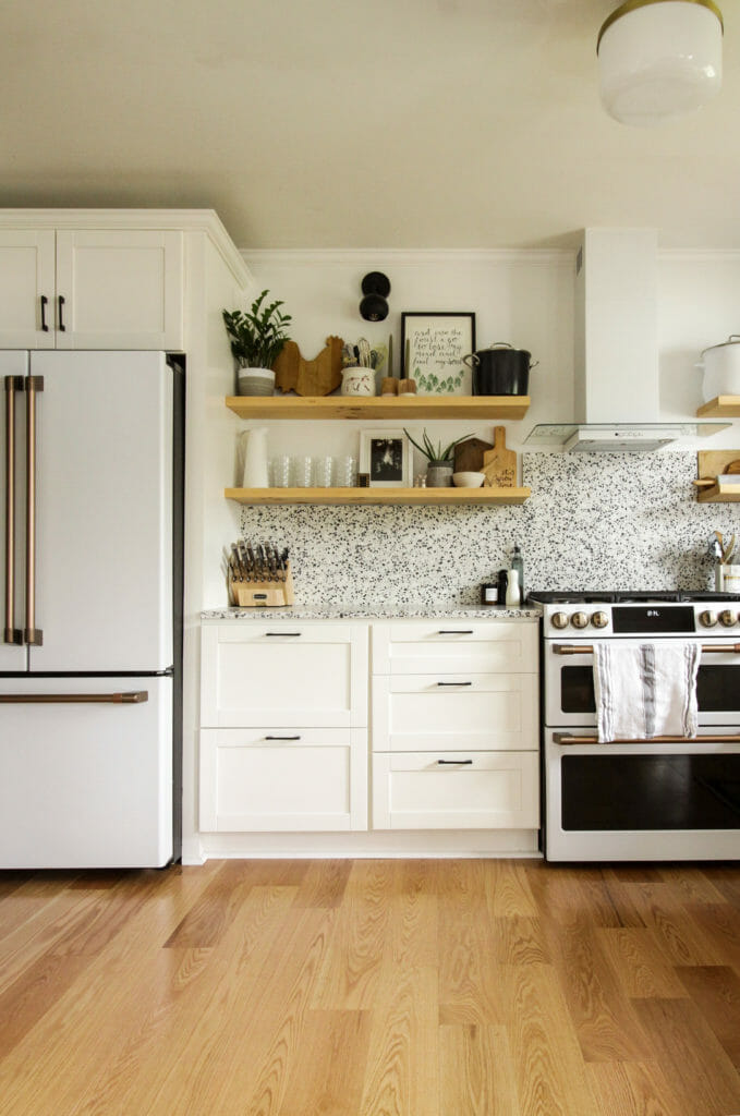 Eclectic Kitchen in black white and gold