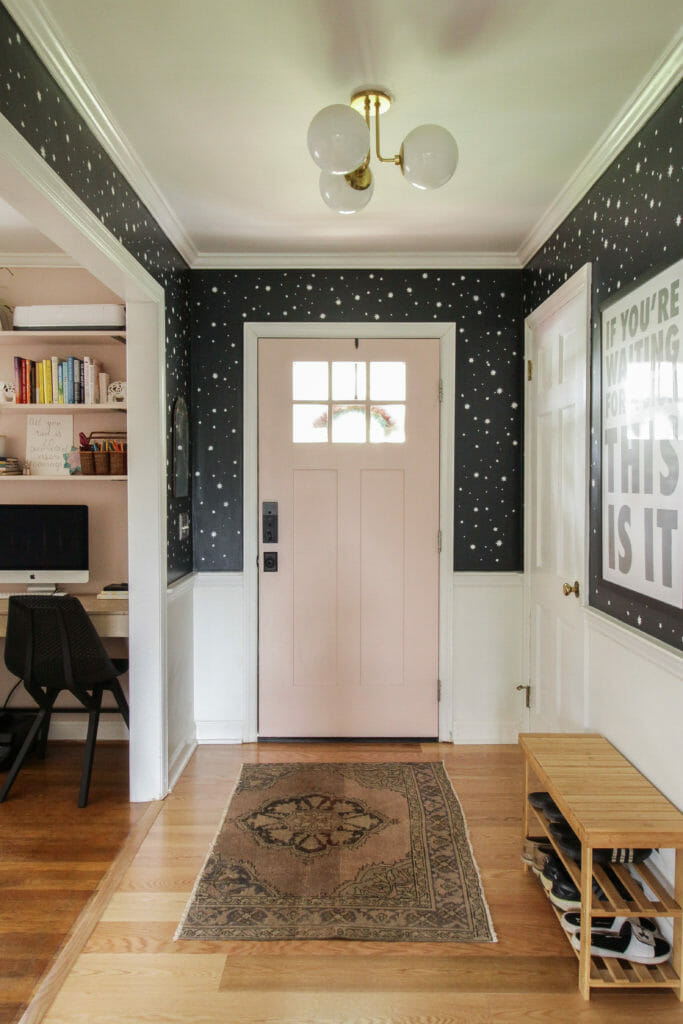 small adorable black white and pink entry