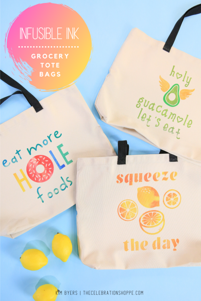 reusable shopping totes made with cricut