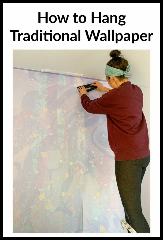 how to hang traditional wallpaper