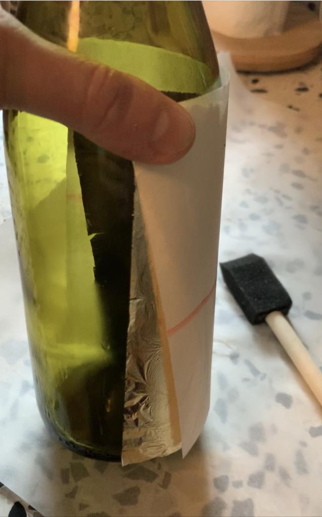 applying gold leaf sheets