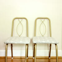 How to Paint and Upholster Metal Chairs: Wilder's Vintage C