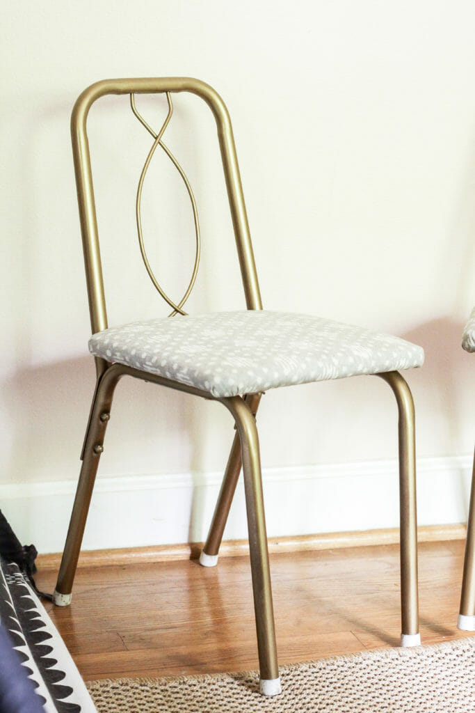 vintage metal chair makeover