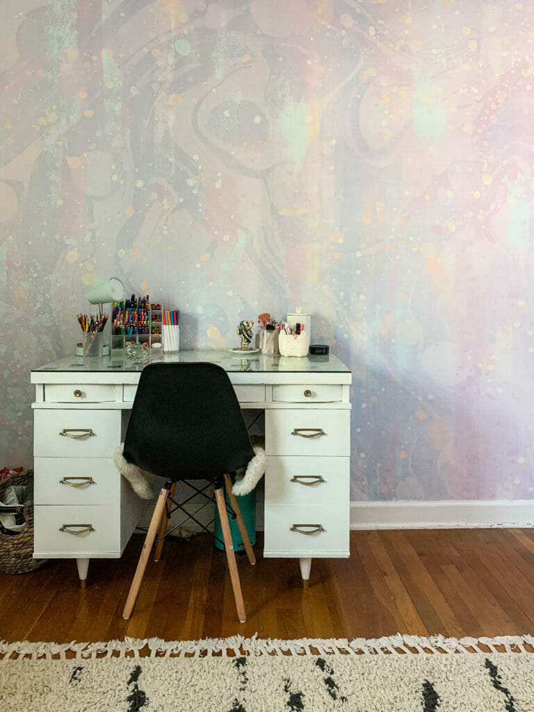 Galactic Wallpaper Mural in teen bedroom