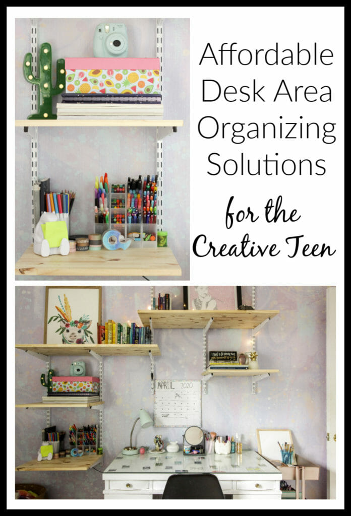 storage solutions for teen desk area