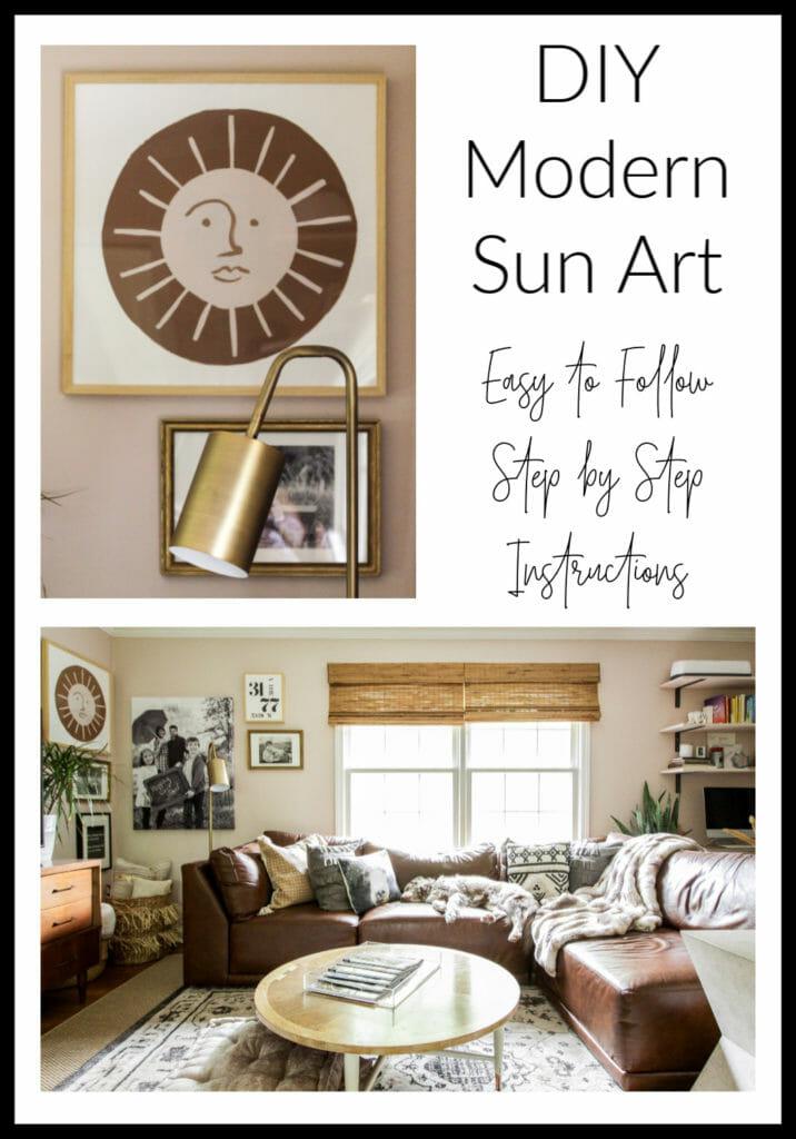 DIY modern sun painting