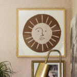 DIY Modern Sun Art in Frame
