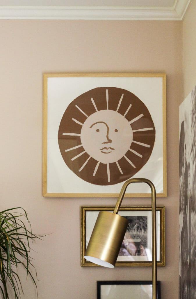 DIY Modern Sun Art in Frame