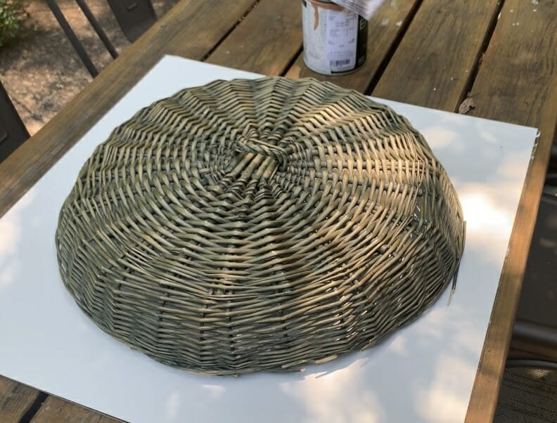 use basket lid to draw circle