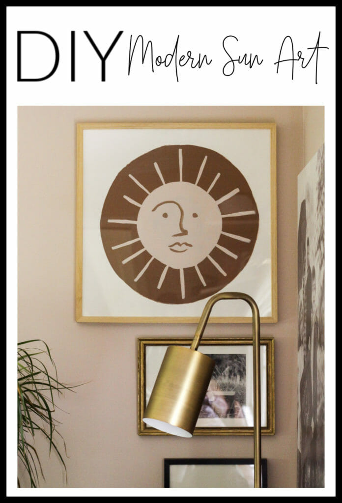 DIY Modern Sun Art