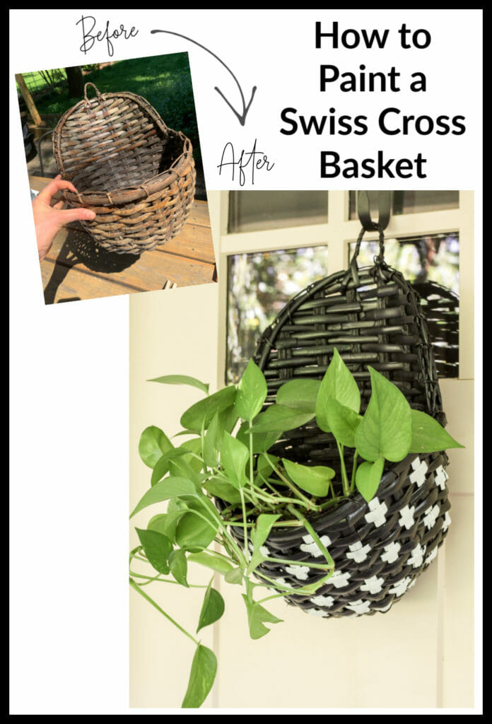 How to Paint a Swiss Cross Basket