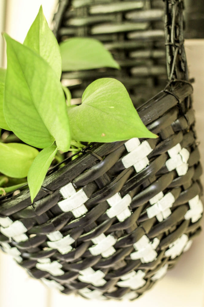 Swiss Cross Basket Paint DIY