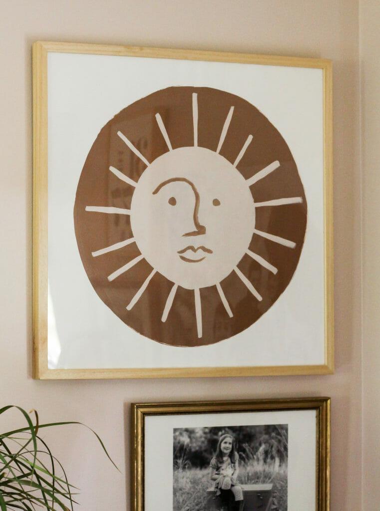 DIY Painted modern sun art