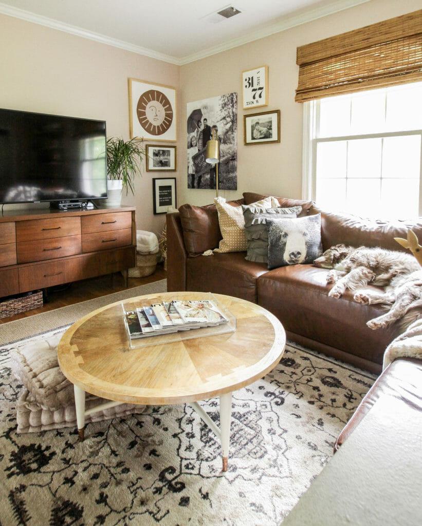 DIY Modern art in pink living room