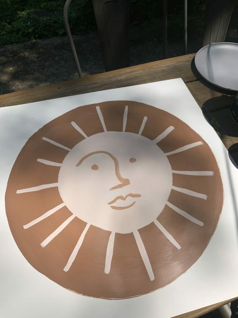 painted modern sun tutorial