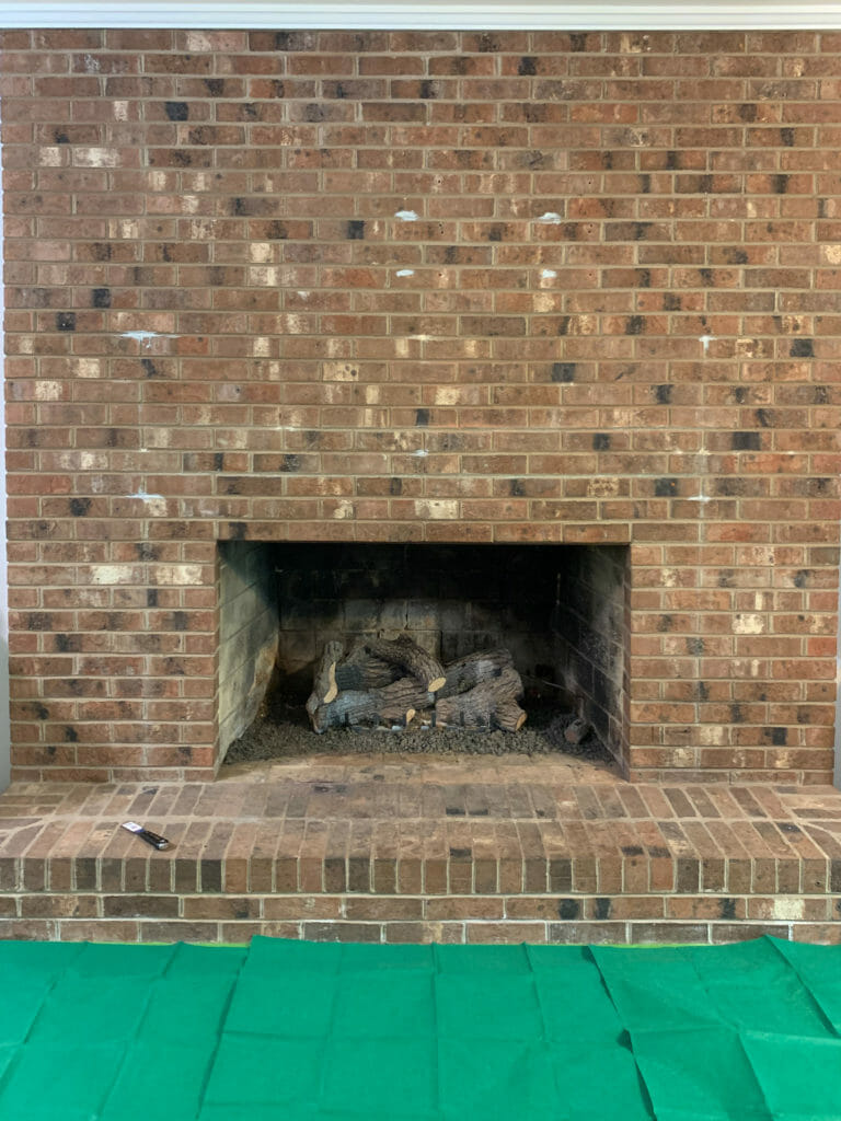 fireplace painting prep