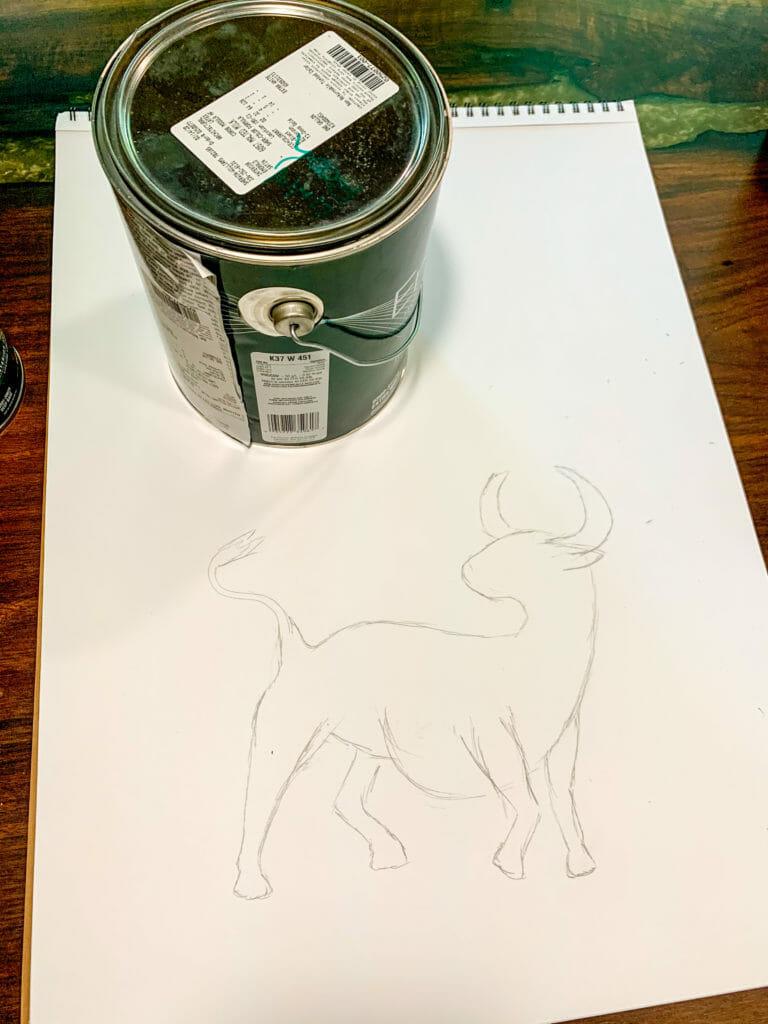 sketched taurus
