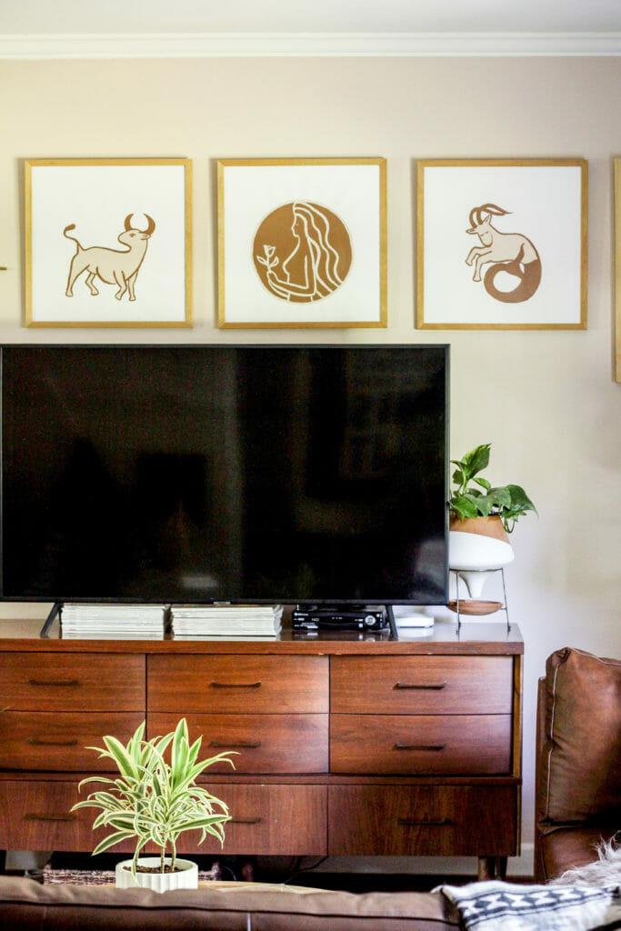 DIY Astrological sign art